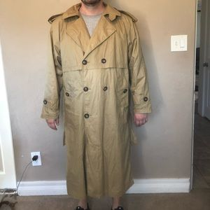 Vintage 90s Tan Windbreaker Trench Coat Bulls NBA
